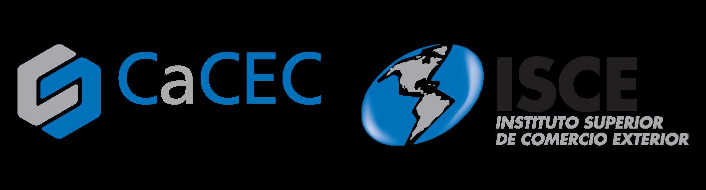 Logos de la Cámara de Comercio Exterior y del Instituto Superior en Comercio Exterior